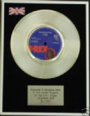 "T REX - 7"" Platinum Disc -TELEGRAM SAM"